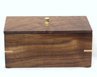 SMALL WALNUT BOX- Gift for Men