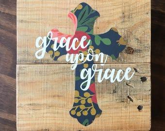 Mini Grace Upon Grace sign