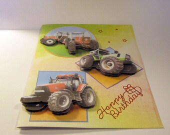 Representing tractors birthday card