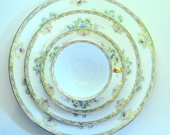 Meito China Woodbine 8 Place Settings 30 Pieces Hand Painted FREE Shipping