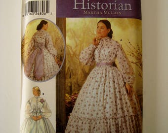 Southern Belle Costume Sewing Pattern Simplicity 5442 Civil War Crinoline Lady Dress Halloween Cosplay Americana Size 14 16 18 20 Uncut OOP