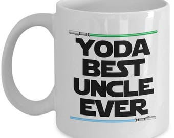 Yoda Best Uncle Ever Star Wars Birthday Funny Nerd Gift for family