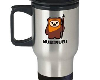 Star Wars Ewok Nub! Nub! Gift Travel Mug Endor Funny Return of Jedi Coffee