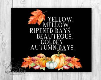 Autumn Quote Typography Poster, Fall Chalkboard Typography Art, Halloween Pumpkin Poster, Autumn Poster, Fall Quote, Fireplace Mantle Poster