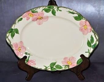 Vintage FRANCISCAN WARE Platter - Desert Rose Pattern