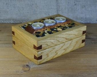Nice Candle Holder, Tea Light Display, Storage, Handmade, Box, Table Display,