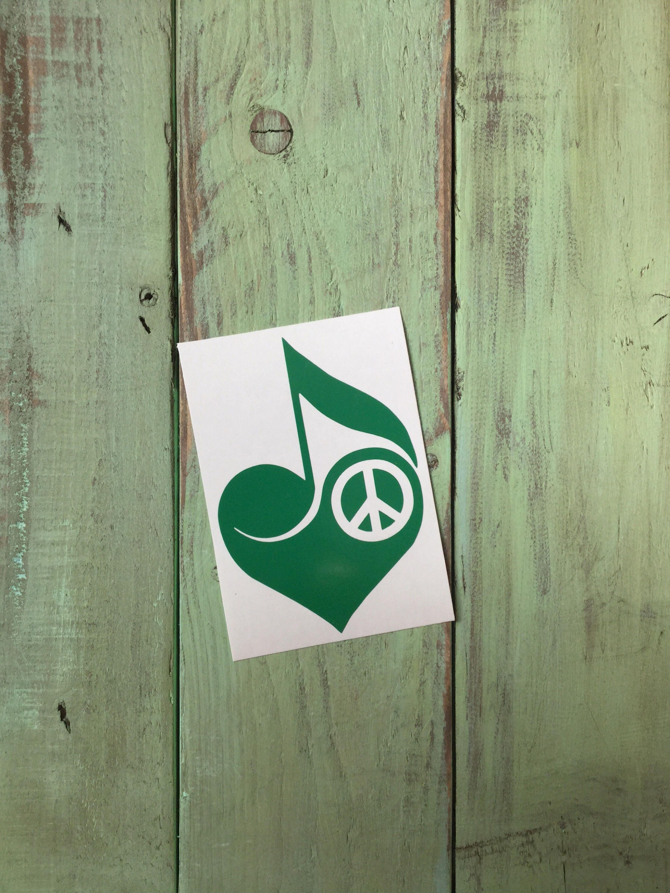 Heart Peace Music Vinyl Decal Sticker - Custom vinyl decals minnesota