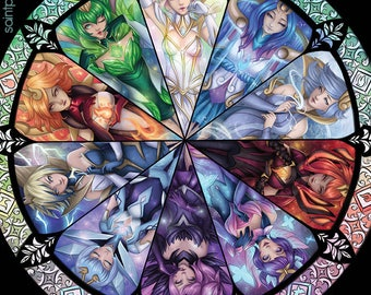 Elementalist Stained Glass