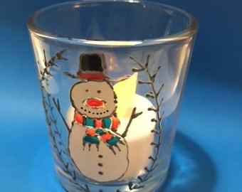 Limited Edition Hand Christmas Tea Light Holder