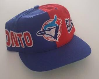 Vintage Toronto Blue Jays 100% Wool CCM Snapback Hat MLB VTG