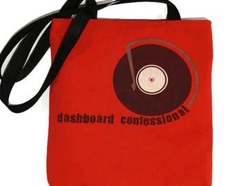 Dashboard Confessional Bag • Tshirt Tote Bag • Upcycled Purse • Dashboard Confessional Tshirt Bag