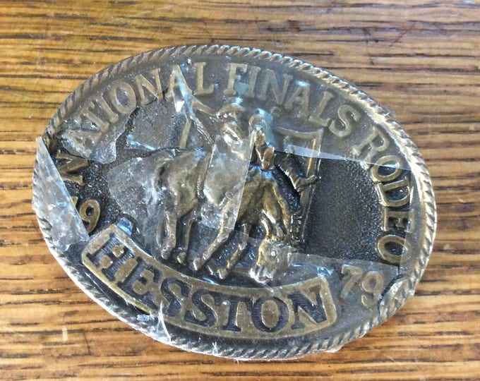 Hesston National Finals Rodeo Commemorative 1979 belt buckle, vintage NFR buckle, New vintage Rodeo belt buckle, Fathers Day, gift for him
