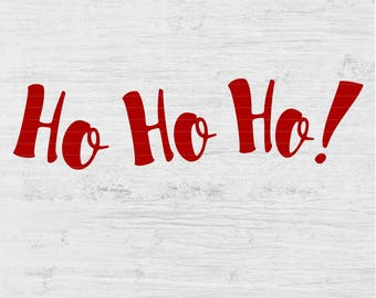 HO HO HO Christmas Holiday season ornament gift present star card scrapbook wall vinyl decal Digital Instant Download Svg png eps dxf