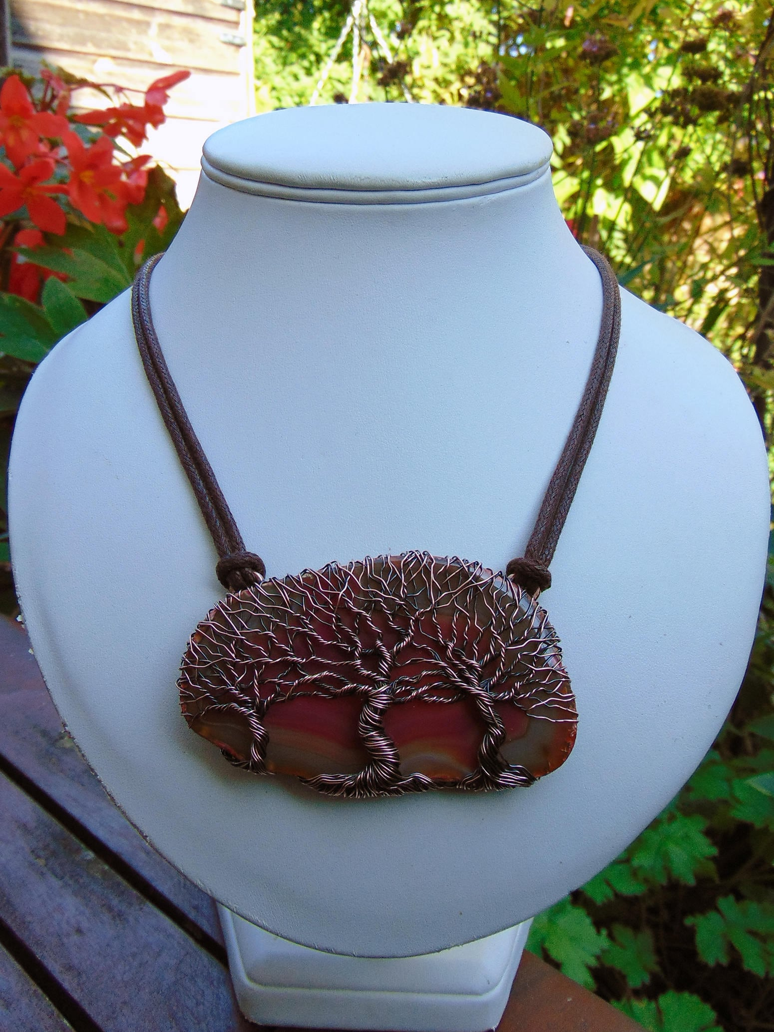Agate Tree Of Life - Wire Wrapped Jewellery - Yggdrasil Pendant ...