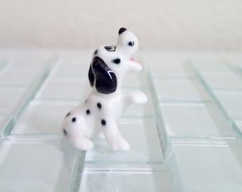 Pointer Dalmatian Puppy Dog Miniature Figurine