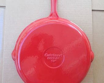 CUISINART 10 Inch SKILLET Fry Pan Bright Deep RED Like New Clean Ready to Use Best Deal Etsy