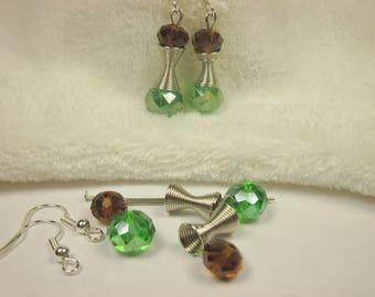 Kit earrings glass and metal 2.8 cm (0 kit)