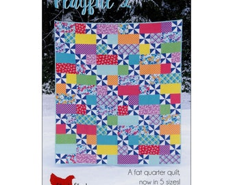 """Pattern """"Playful 2 Quilt Pattern"""" by Cluck Cluck Sew (CCS169) Paper Pattern"""