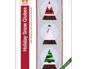 """Pattern """"Holiday Snow Globes"""" by Hunter's Design Studio (HDS050) Paper Pattern"""