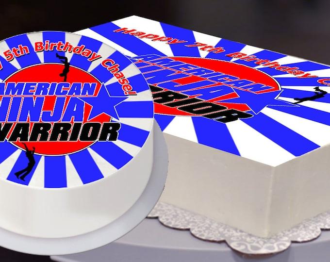 Ninja Warrior Party Edible Cake Topper, Ninja Warrior Birthday, Ninja Warrior Party -  Digital or Printed