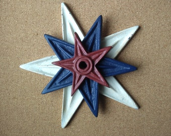 Set of 3 vintage architectural stars - fantastic and versatile decor