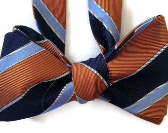 Silk Bow Tie for Men - Old School - One-of-a-Kind, Self-tie - Free Shipping