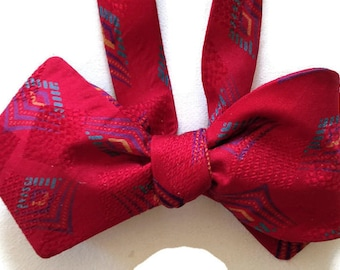 Silk Bow Tie for Men - Tranquility - One-of-a-Kind, Self-tie - Free Shipping