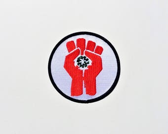Hunter S Thompson  Fist of Gonzo  Fear and Loathing Motorcycle Iron On Patch