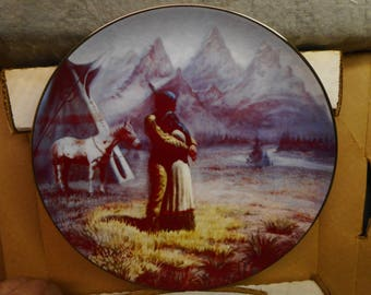 "Vintage Collector Plate ""LOVERS"" by Gregory Perillo 1984 Artaffects LTD No. 4976 10 3/8"""