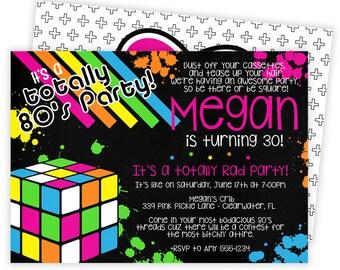 80s Invitation, 80s Party, 80s Birthday Invitations, 80s Invite, 80s Birthday, 80s Party Invitation, 80s Theme Party, 80s Invitations   339