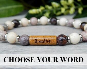 Patience Bracelet, Intention Bracelet, Inspiring Jewelry, Everyday Bracelets, Simple Bracelet, Choose Your Word, Message Bracelets