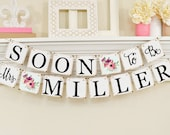 Floral Soon To Be Mrs Banner, Floral Bridal Shower Decorations, Bridal Shower Banner, Soon To Be Mrs, Bridal Shower Pink Floral Theme