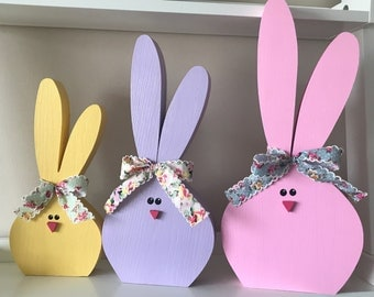 Large Wooden Bunnies // Easter Decorations