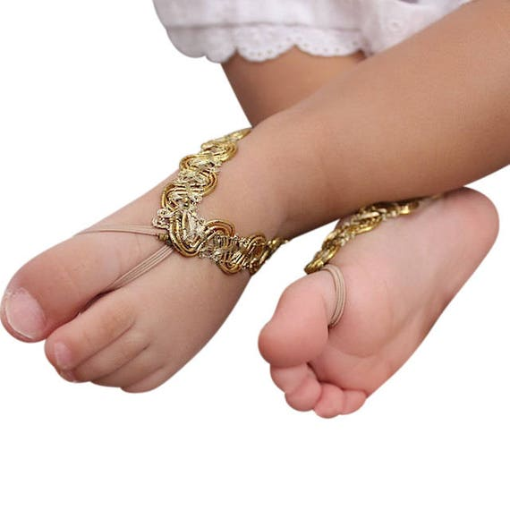Barefoot Baby Shoes, Toddler Sandals, Gold Sandals, Newborn Sandals, Sandals for Newborn, Barefoot Sandals, Toddler Sandals, Infant Sandals