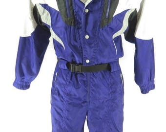 Vintage 80s Tyrolia Head Retro Ski Suit Mens M Snowboard Insulated Coveralls [H32H_2-6_Long]