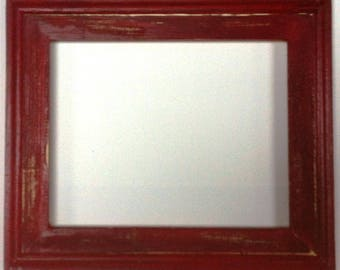 "1-3/4"" Crimson Distressed Picture Frame"