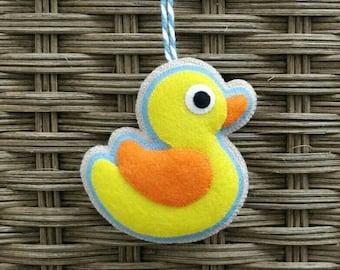Cute felt duckling Easter ornament