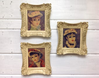 Vintage Framed French Ladies