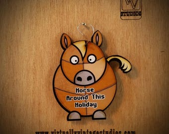 Horse Patchwork Christmas Ornament