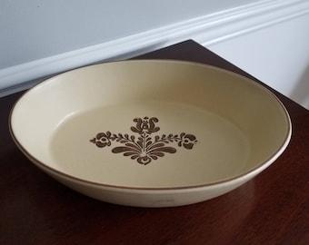 "Vintage Pfaltzgraff Small Oval Casserole ""Village"" pattern #241"
