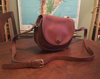 Pretty Vintage Coach Purse - Small Brown Classic City Bag Crossbody with Brass Turn Lock