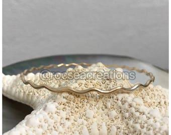 14 gauge 14k Gold Filled WAVE Bangles
