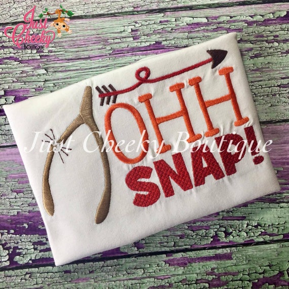 Oh Snap Embroidered Thanksgiving Shirt - Boys Thanksgiving Shirt - Fall Shirt - Turkey Day Shirt