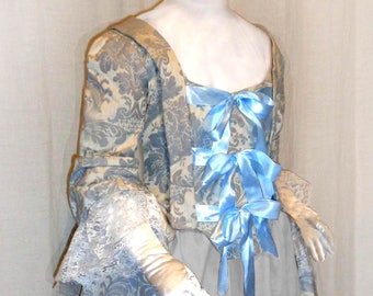 18th Century Lady's Queensize Fitted Jacket with Peplum