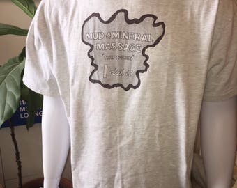 Dr. Wilkinson's Hot Springs Mud Mineral Massage XL Hanes Beefy Tee 100% cotton tee t-shirt
