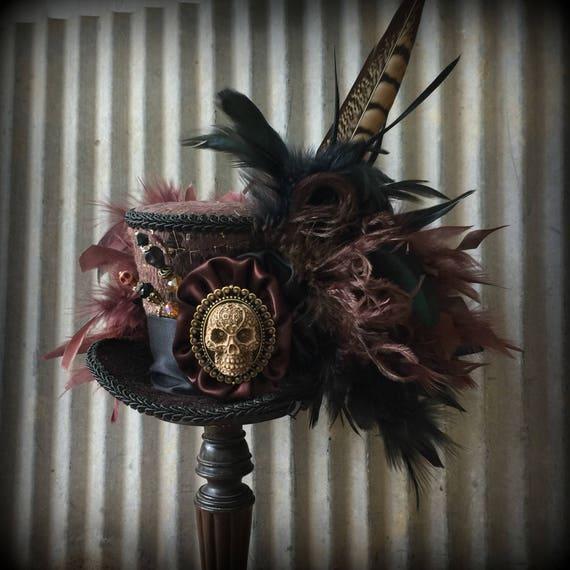 Mini Top Hat Gothic Hat Sugar Skull Skeleton Hat Day Of