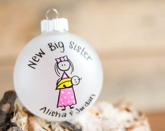 New Big Sister/Brother Christmas Ornament - Personalized For Free