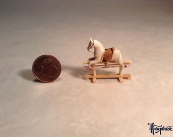 Miniature rocking horse made of wood - Item number: MRH1 white