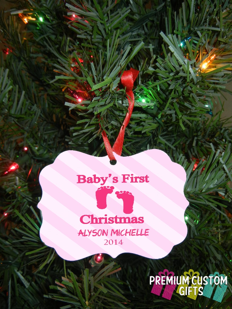 Gallery premiumcustomgifts babys first christmas ornament personalized baby christmas ornament babys christmas baby ornament negle Images