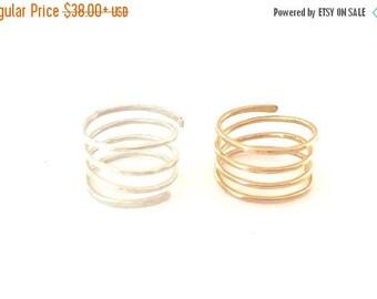 SUMMER SALE Spiral Ring